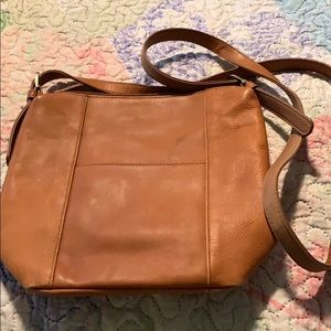 New leather crossbody purse